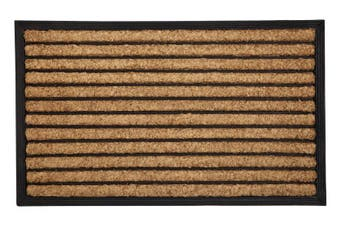 Stripes Rubber Bordered Coir Doormat 60x90 cm