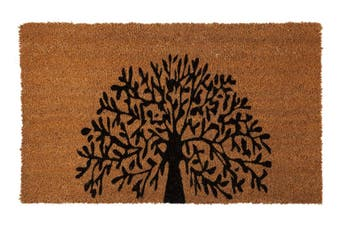 Tree Of Life PVC Backed Coir Doormat 45x120 cm