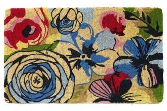 Watercolour 100% Coir Doormat