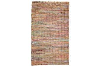 90x150cm IRIS Multicolour Natural Fibre Jute Rug, Floor Rug, Area Rug