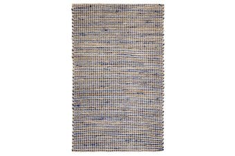 90x150cm IRIS Royal Blue Natural Fibre Jute Rug, Floor Rug, Area Rug