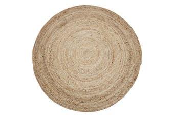 200cm Round Jute Rug | Decorative Floor Rug Phoenix Natural
