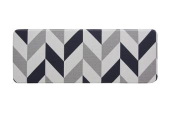 120x44 cm Herringbone Navy Kitchen Laundry Bathroom Anti Fatigue Mat