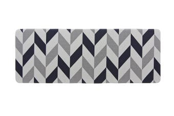 180x65 cm Herringbone Navy Kitchen Laundry Bathroom Anti Fatigue Mat