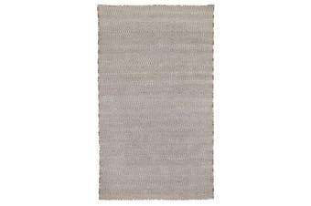 Herringbone Ash Grey Indoor/Outdoor P.E.T Rug