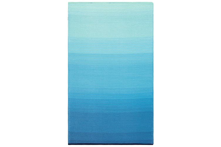 180x270 cm Recycled Plastic Outdoor Rug and Mat Big Sur Teal
