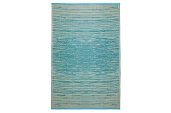 90x179cm Brooklyn Teal Recycled Plastic Outdoor Rug and Mat
