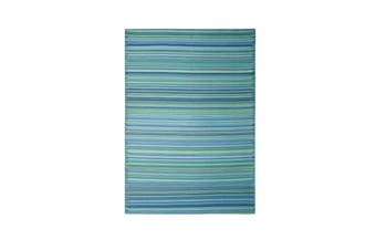 150x238cm Cancun Aqua Recycled Plastic Outdoor Rug and Mat