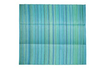 270x270cm Cancun Aqua Recycled Plastic Outdoor Rug and Mat