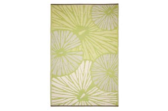 Citrus Lily Green Recycled Plastic Outdoor Rug and Mat