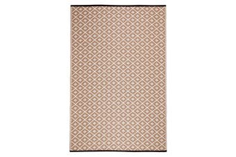 Kimberley Beige and White Recycled Plastic Outdoor Rug and Mat
