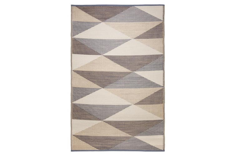 120x179cm Monaco Champagne Beige Recycled Plastic Outdoor Rug and Mat
