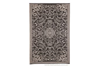 Murano Black & Cream Recycled Plastic Outdoor Rug and Mat