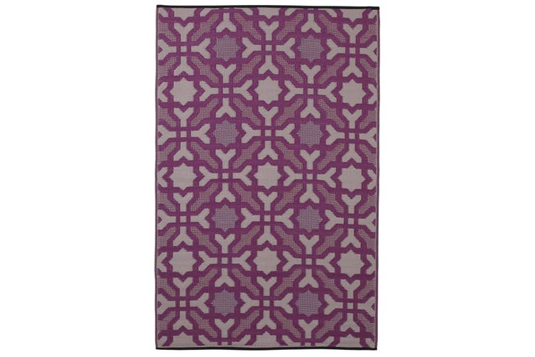 120x179cm Seville Purple Recycled Plastic Outdoor Rug and Mat