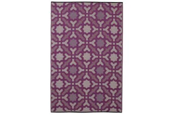 180x270cm Seville Purple Recycled Plastic Outdoor Rug and Mat