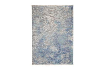 97x150cm Unnao Blue and Grey Indoor Rug, Area Rug, Floor Rug
