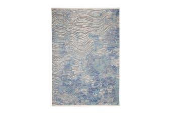 300x385cm Unnao Blue and Grey Indoor Rug, Area Rug, Floor Rug