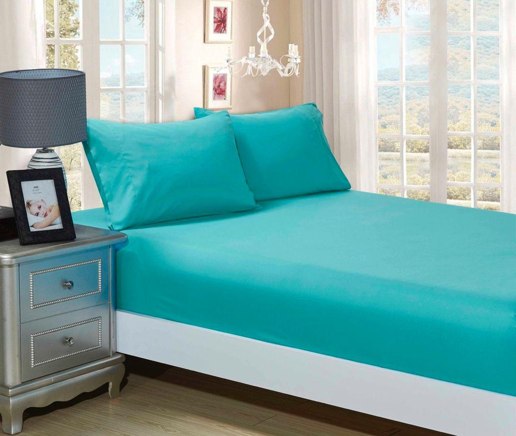 100/% Cotton 16//40CM Extra Deep  Fitted Sheet By Sasa Craze Bedding Double, Summer Teal