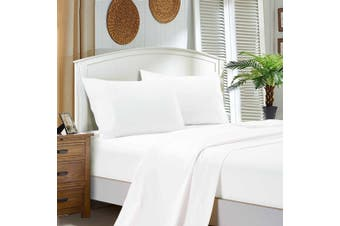 1000TC Ultra Soft Flat & Fitted Sheet Set - Super King Size Bed - White