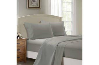 1000TC Ultra Soft Flat & Fitted Sheet Set - Super King Size Bed - Grey