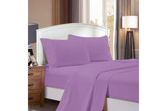 1000TC Ultra Soft Flat & Fitted Sheet Set - Super King Size Bed - Lilac