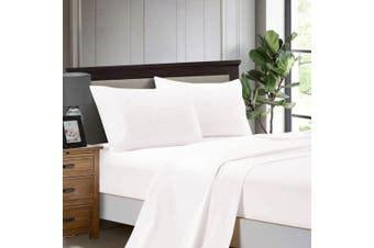 1000TC Ultra Soft Flat & Fitted Sheet Set - Super King Size Bed - Ivory