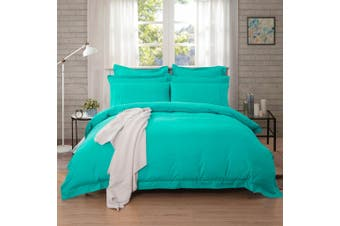 1000TC Tailored King Size Quilt/Doona/Duvet Cover Set - Teal