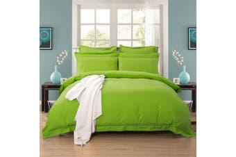 1000TC Tailored King Size Quilt/Doona/Duvet Cover Set - Green