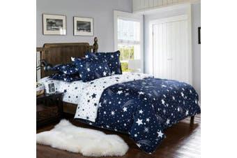 Stars Quilt/Doona/Duvet Cover Set (King Size) M397