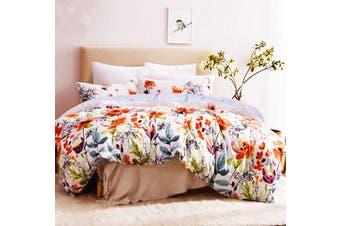 Artistic Floral Quilt/Doona/Duvet Cover Set (Queen Size) M407