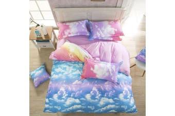 Clouds Quilt/Doona/Duvet Cover Set (Super King Size)