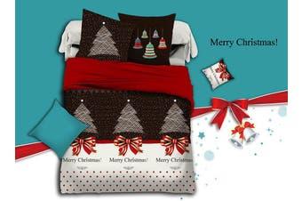 Merry Christmas Quilt/Doona/Duvet Cover Set (Super King Size)