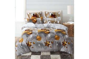 Christmas Gift Quilt/Doona/Duvet Cover Set (Super King Size)