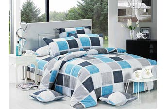 Brinty Quilt/Doona/Duvet Cover Set (King Single Size)