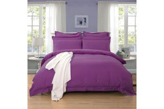 1000TC Tailored Queen Size Quilt/Doona/Duvet Cover Set - Purple