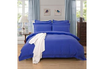 1000TC Tailored Queen Size Quilt/Doona/Duvet Cover Set - Royal Blue