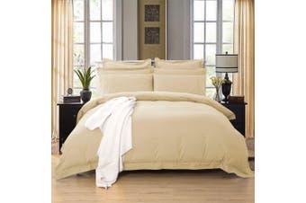 1000TC Tailored Queen Size Quilt/Doona/Duvet Cover Set - Yellow Cream