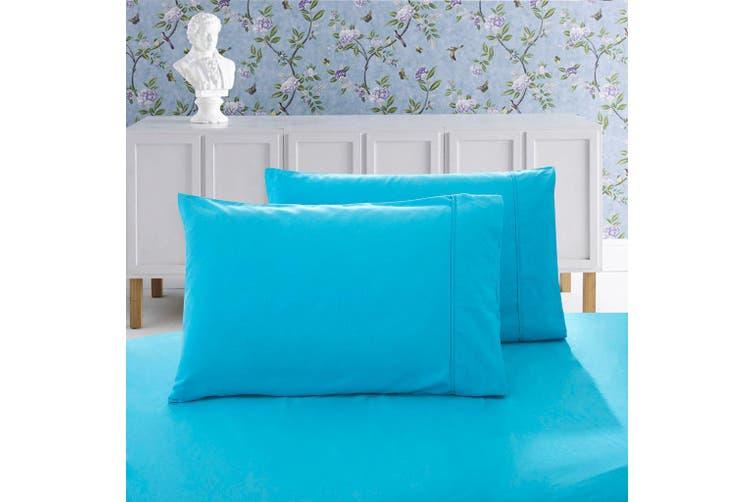 1000TC Premium Ultra Soft Queen size Pillowcases 2-Pack - Light Blue