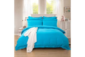 1000TC Tailored Super King Size Quilt/Doona/Duvet Cover Set - Light Blue