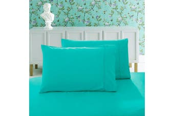 1000TC Premium Ultra Soft Standrad size Pillowcases 2-Pack - Teal