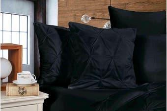 Diamond Pintuck Premium Ultra Soft Cushion Covers 2-Pack - Black