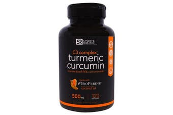 Sports Research Turmeric Curcumin C3 Complex - 500 mg, 120 Softgels