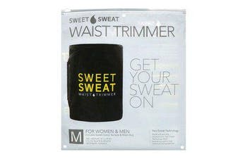 Sweet Sweat Waist Trimmer - Medium, Black & Yellow