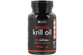 Sports Research Antarctic Krill Oil with Astaxanthin - 1,000 mg, 60 Softgels