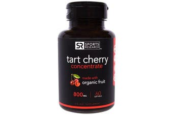 Sports Research Tart Cherry Concentrate - 800 mg, 60 Softgels
