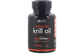Sports Research Antarctic Krill Oil with Astaxanthin - 1,000mg, 30 Softgels