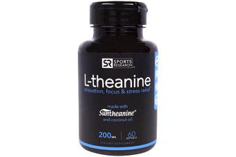 Sports Research L-theanine - 200 mg, 60 Softgels