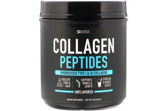 Sports Research Collagen Peptides Unflavored 454g