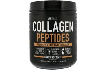 Sports Research Collagen Peptides Hydrolyzed Type I & III Collagen - Dark Chocolate 644g