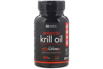 Sports Research Antarctic Krill Oil with Astaxanthin - 500mg, 120 Softgels